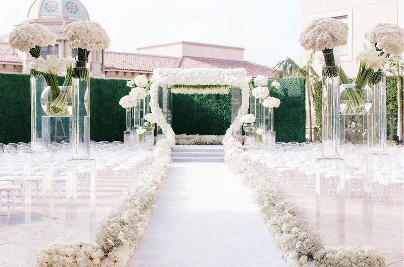 All-White Outdoor Ceremony
