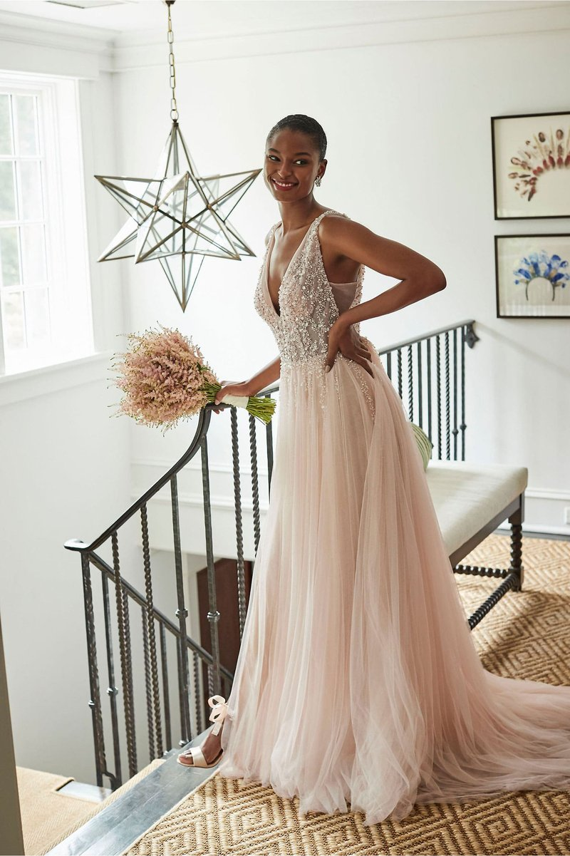 """Written in the Stars"" Sequin Wedding Dress"