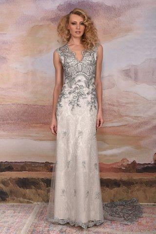 claire-pettibone-vagabond-collection-2018-horizon-v-neck-silver-lace-wedding-dress-sleeveless