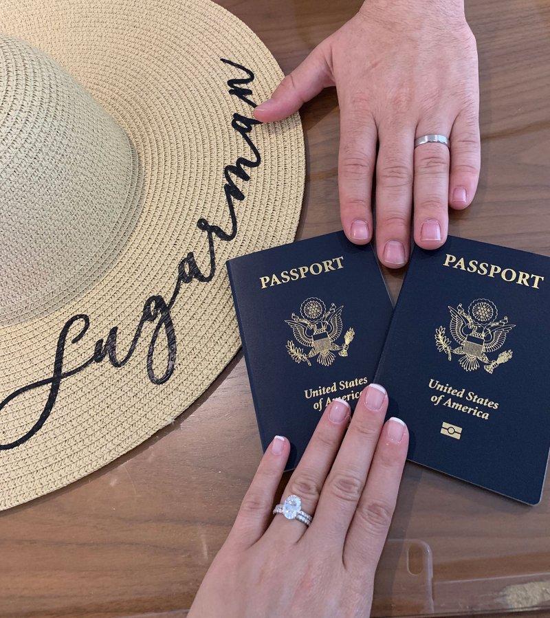 Newlywed Wedding Ring & Passport Photo