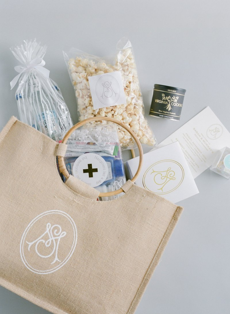 Luxury Wedding Monogram Ideas - Welcome Bag