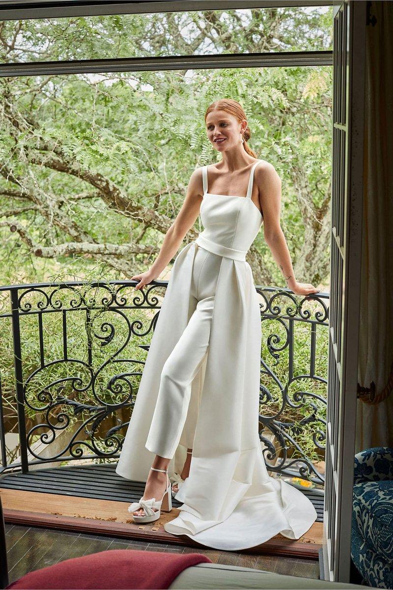 """""""Poppy"""" Bridal Jumpsuit & Overskirt"""