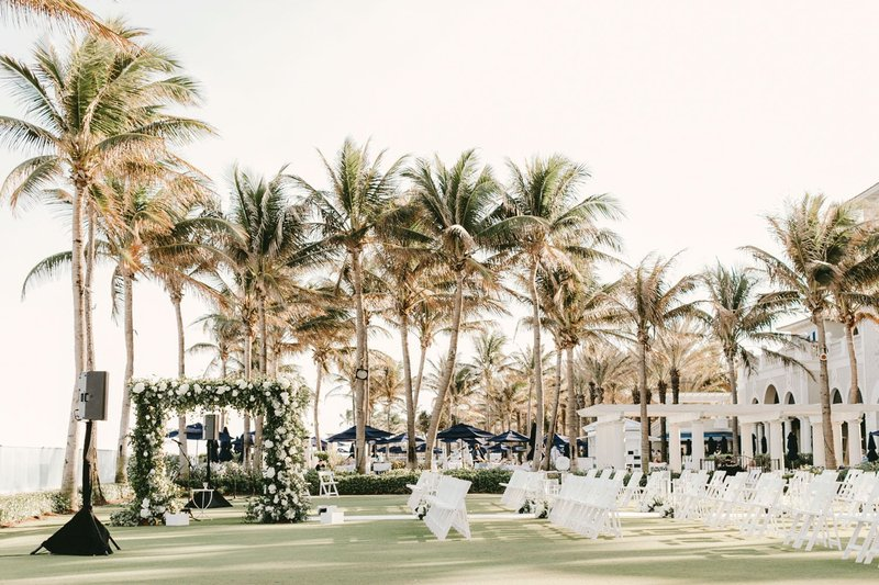 Outdoor Wedding Ceremony at The Breakers