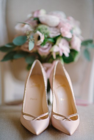 brides-pink-louboutin-pumps-with-rose-gold-details