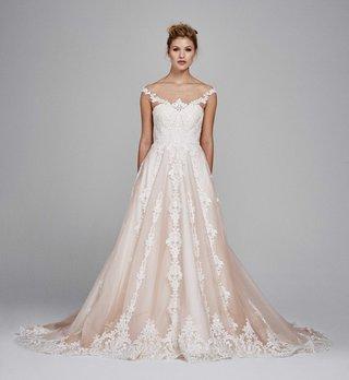 kelly-faetanini-fall-winter-2017-wedding-dress-suri-blush-ball-gown-a-line-illusion-neckline-lace