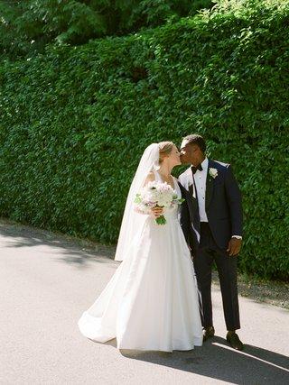 la-rams-brandin-cooks-briannon-lepman-wedding-at-portland-home-bride-in-modern-trousseau
