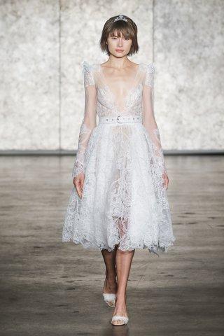 inbal-dror-fall-2018-short-crochet-lace-belted-long-sleeve-ballerina