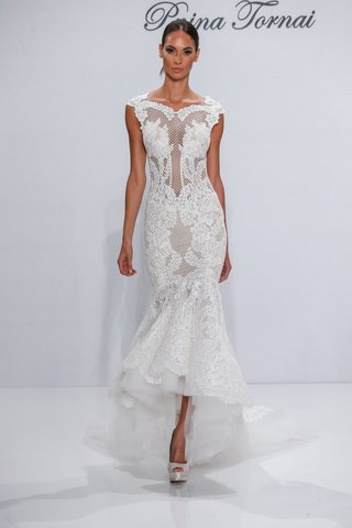 pnina-tornai-for-kleinfeld-2017-dimensions-collection-mermaid-high-low-wedding-dress-netting-lace
