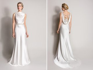 satin-wedding-dress-with-cowl-back-and-beads