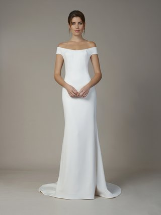 liancarlo-fall-2018-matte-crepe-off-the-shoulder-sheath-gown-with-illusion-neckline