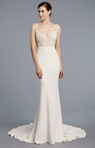 anne-barge-spring-2018-collection-bridal-dress-v-neckline-outline-silk-bias-band-column-skirt