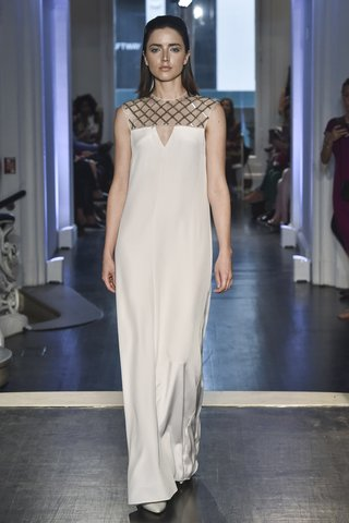 lakum-fall-2018-stretch-silk-crepe-gown-with-rhombus-chrome-embroidered-yoke