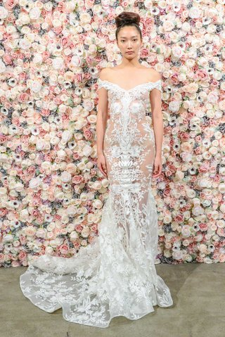 michael-costello-spring-summer-2018-bridal-couture-collection-off-shoulder-sheer-gown-embroidery