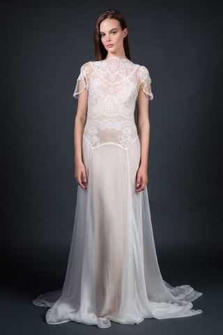 sarah-janks-fall-2016-high-neck-lace-and-chiffon-wedding-dress-over-nude-slip
