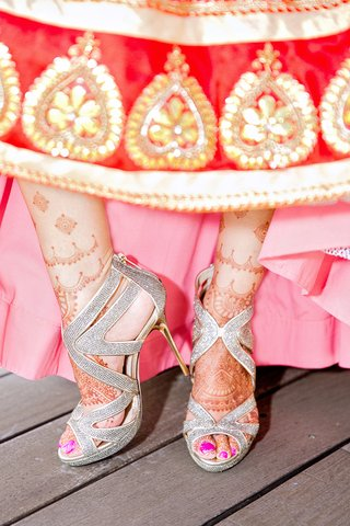 sparkly-silver-and-gold-jimmy-wedding-heels