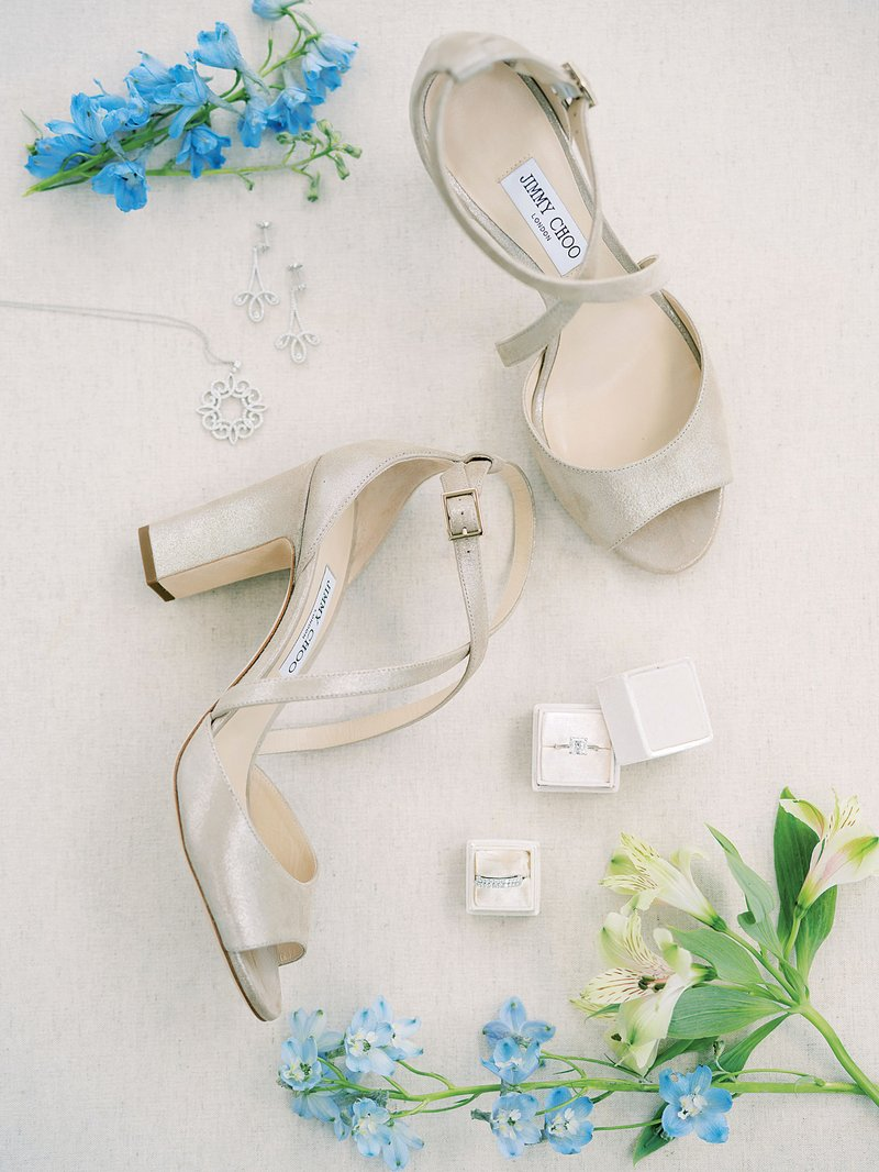 Jimmy Choo Heels & Blue Florals