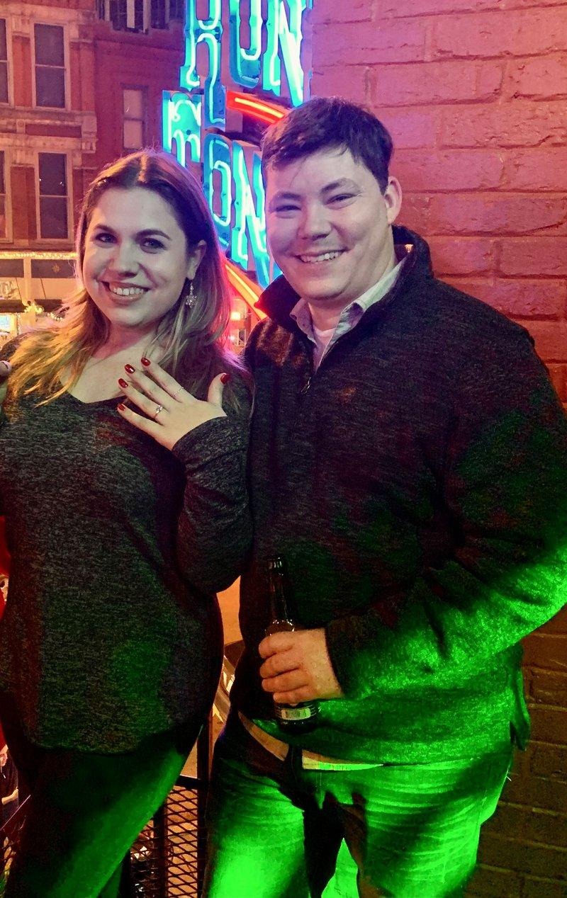 Newly Engaged Couple in Nashville