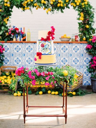 A Charming Fete Colorful Wedding Cake tile print