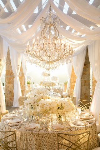 gorgeous wedding reception malibu rocky oaks vineyard estate gold chameleon chair collection drapes
