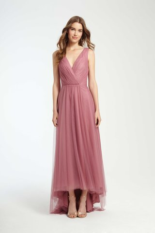 monique-lhuillier-bridesmaids-fall-2016-v-neck-bridesmaid-dress-with-high-low-skirt