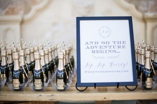 wedding-sign-and-so-the-adventure-begins-sip-sip-hooray-with-wedding-hashtag-and-champagne-bottles