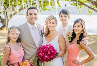 bride-and-groom-with-daughters-and-son
