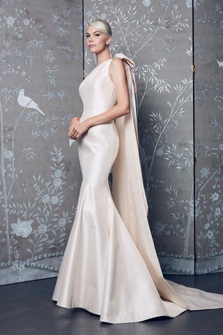 legends-romona-keveza-fall-2018-blush-fit-and-flare-gown-wedding-dress-bow-tail-back