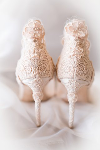 light-blush-heels-floral-patterns-stilettos-christian-dior-wedding-shoes-bride-california