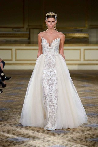 berta-fall-winter-2016-lace-strapless-wedding-dress-with-ivory-overskirt