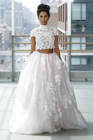 look-14-by-gracy-accad-spring-2019-blush-organza-hand-painted-floral-ball-skirt-lace-crop-top