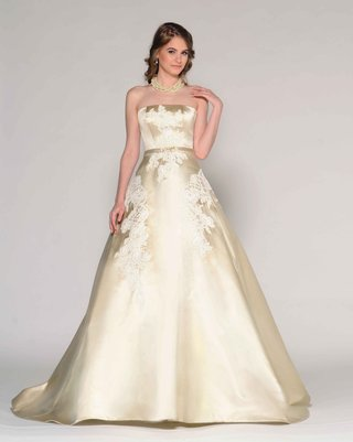 eugenia-couture-fall-2016-gold-strapless-ball-gown-with-lace-applique
