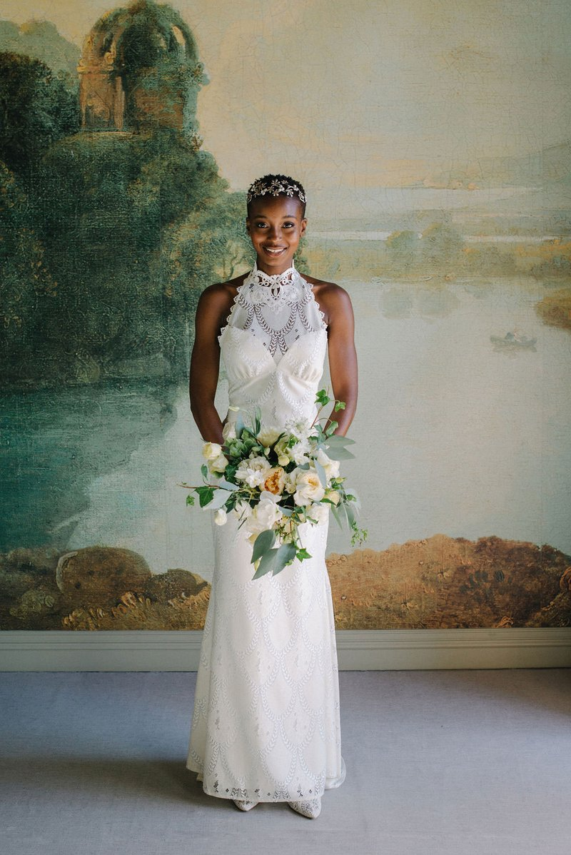 """Calypso"" Halter Top & Skirt by Claire Pettibone"