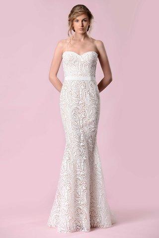 gemy-maalouf-2016-strapless-paisley-pattern-wedding-dress-mermaid
