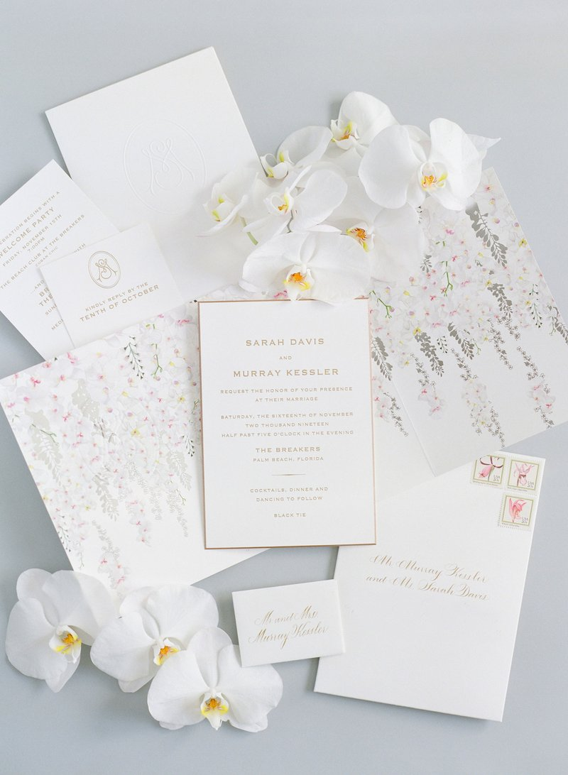 Luxury Wedding Monogram Ideas - Invitation