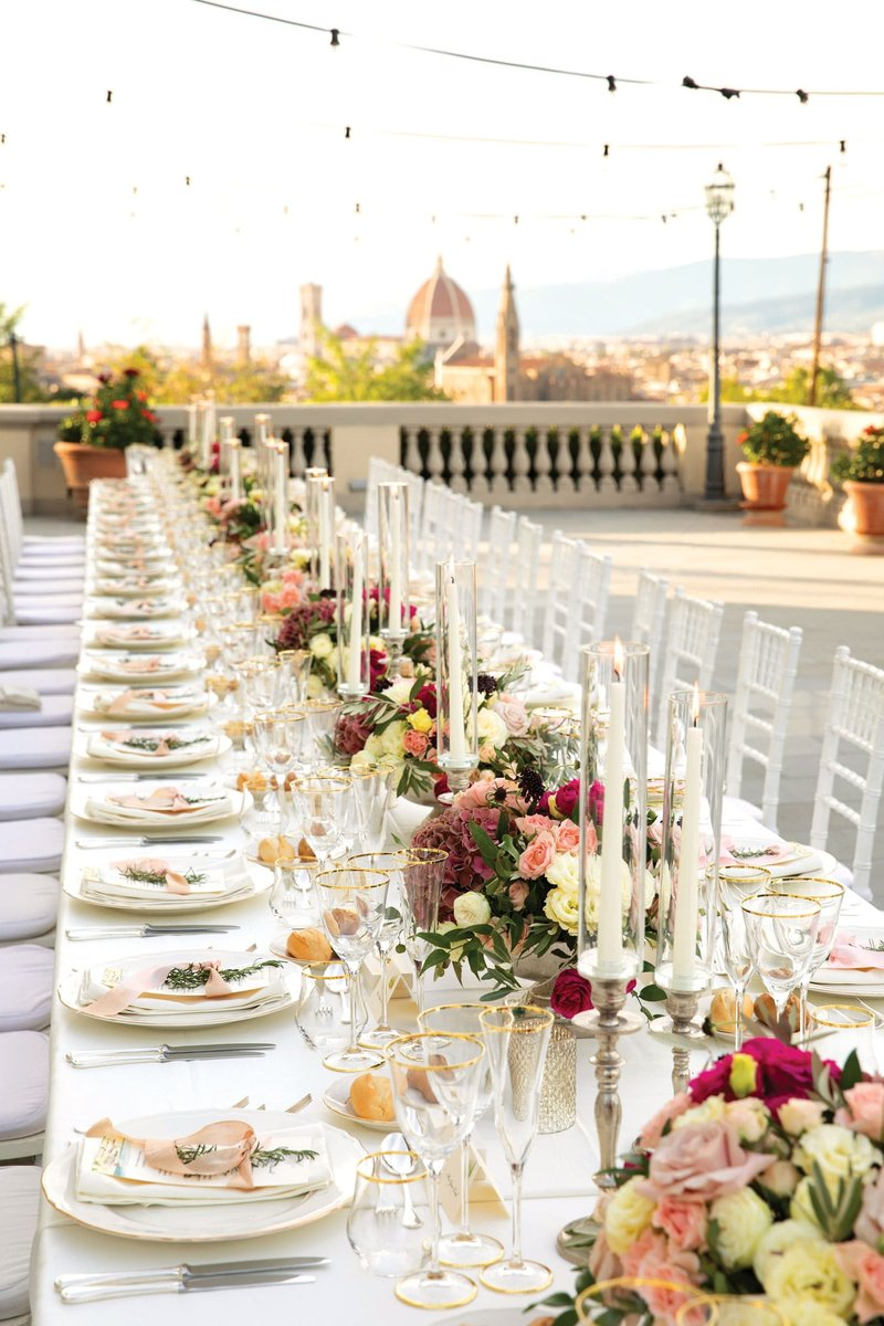 Outdoor Wedding Reception in Florence, Italy