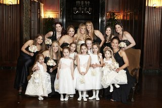 bridesmaids-and-flower-girls-in-pretty-dresses