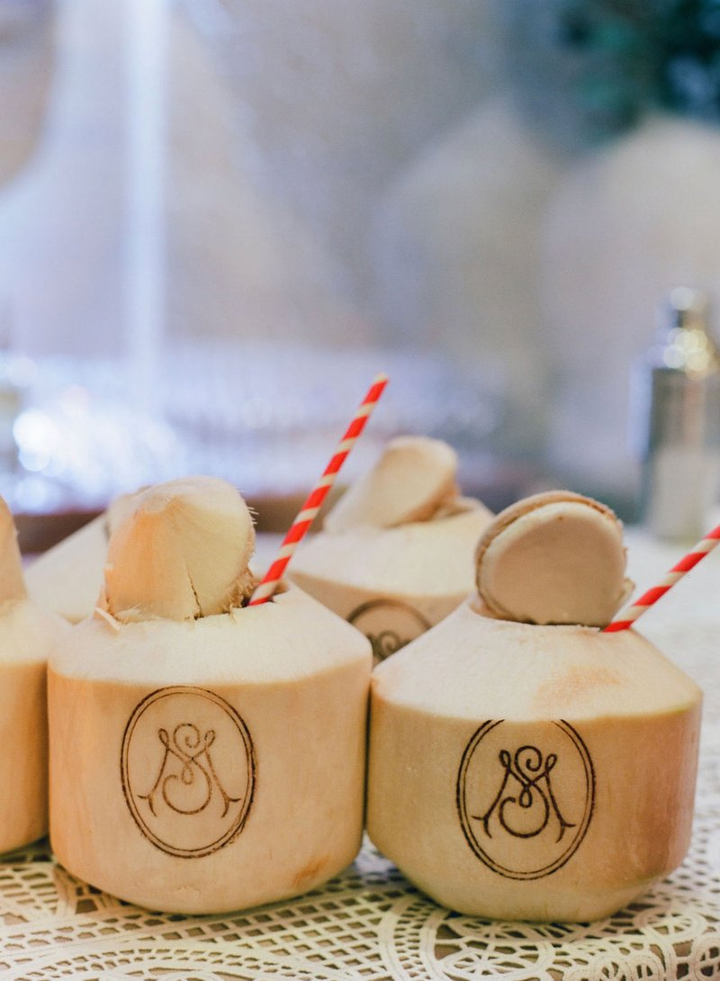Luxury Wedding Monogram Ideas - Coconut Cocktails