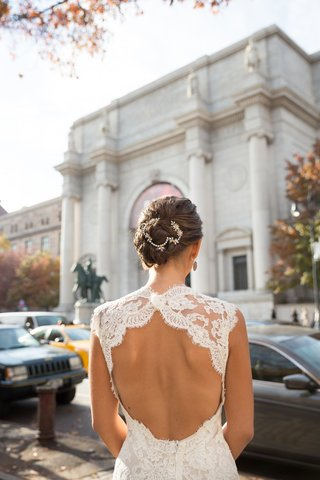 bride-in-a-lace-key-hole-gown-by-monique-lhuillier-and-updo-with-sparkling-band
