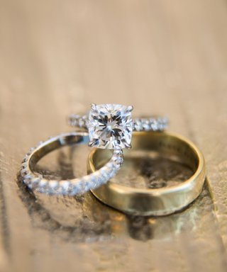 wedding-rings-cushion-cut-four-prong-diamond-engagement-ring-eternity-wedding-band-yellow-gold