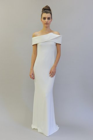 austin-scarlett-fall-2017-simone-faille-and-crepe-structured-off-the-shoulder-sheath-gown