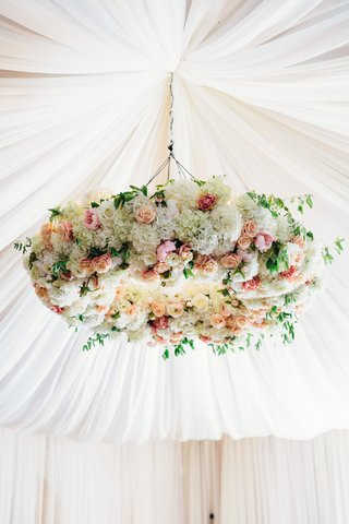 lush-flower-chandelier-with-pink-apricot-white-hydrangeas-and-roses-flower-chandelier-tent-wedding