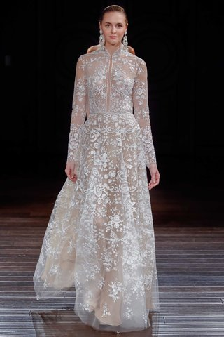 naeem-khan-bridal-spring-2017-palace-long-sleeve-wedding-dress-with-illusion-embroidery-high-neck