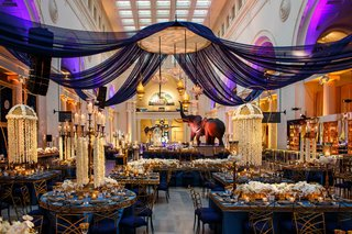 opulent-reception-space-concept-in-blue-gold-and-purple-in-chicago-museum