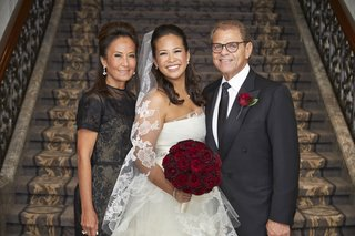 bride-in-vera-wang-wedding-dress-mother-of-the-bride-in-black-lace-carolina-herrera