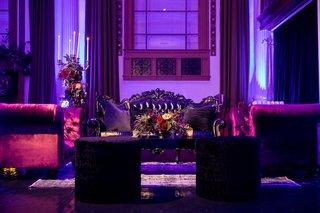 seattle-mariners-marc-rzepczynskis-wedding-vibiana-wedding-dark-colors-lounge-furniture
