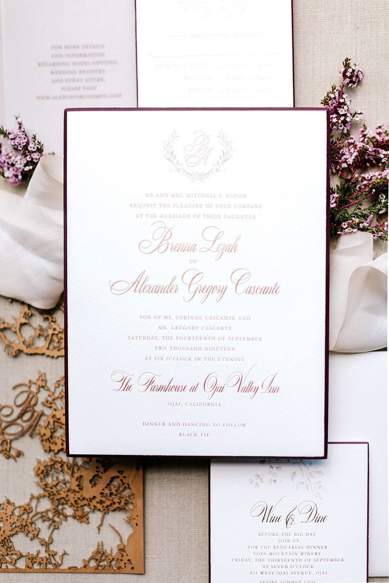 Fall-Inspired Wedding Invitation Suite