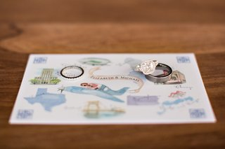 engagement-ring-on-custom-watercolor-drawing-map