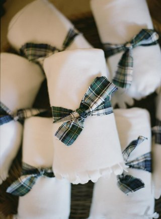 white-blanket-tied-with-plaid-dress-gordon-tartan