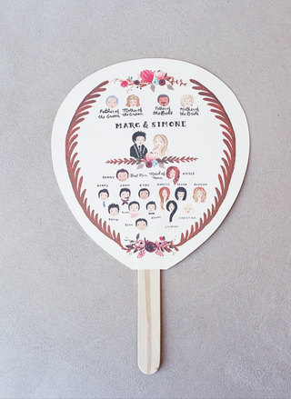 fan-with-illustrations-of-the-bride-and-groom-their-parents-and-wedding-party-by-rifle-paper-co