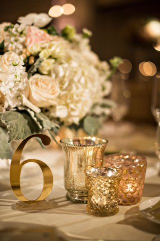 wedding-reception-gold-candle-votives-gold-shiny-shimmering-table-number-cutout-cut-out-number-low